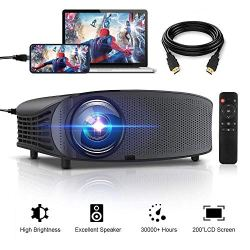 Projector, GBTIGER 4000 lumens Video Projector Connect to Smartphone