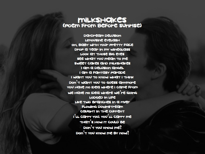 Milkshakes (poem)