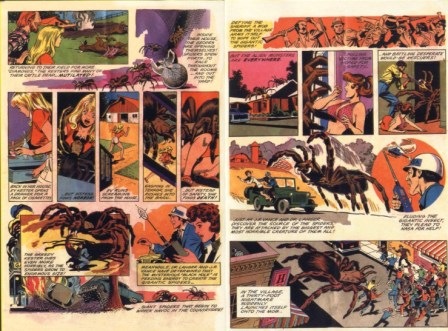 giant spider invasion dvd comic book page 2 & 3