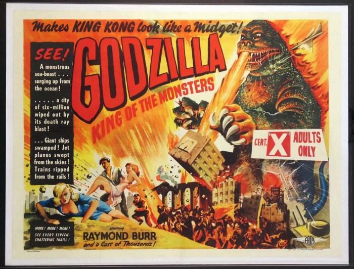 godzilla 1954 british quad poster