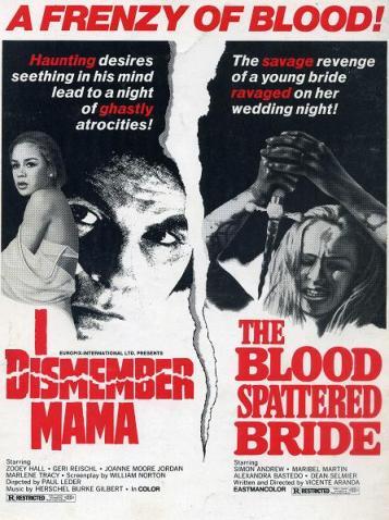 I dismember mama + blood spattered bride