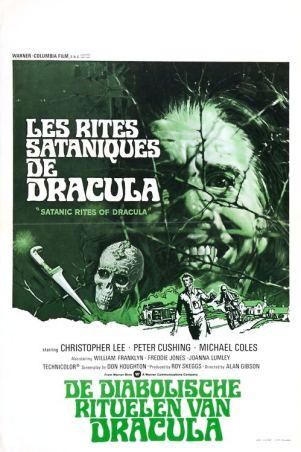 satanic rites of dracula belgian poster