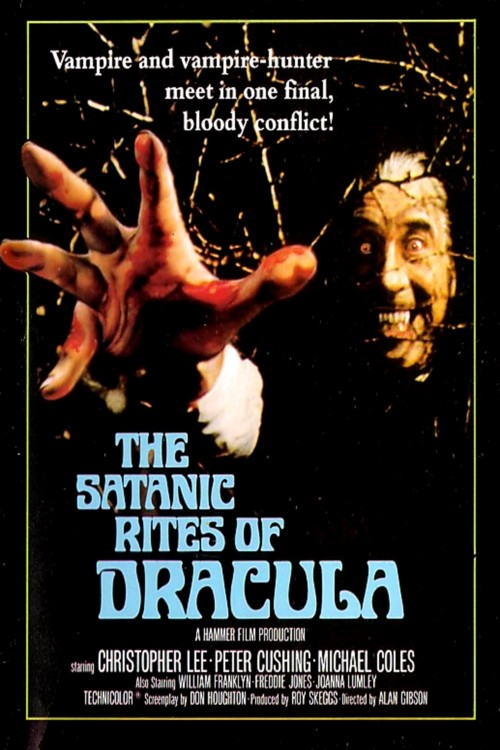 satanic rites of dracula christopher lee hawthorn bush poster