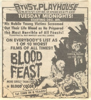 Blood Feast 1963 ad mat