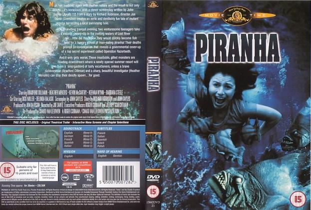 PIRANHA 1978 JOE DANTE BRITISH DVD SLEEVE