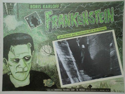 frankenstein 1931 mexican lobby card