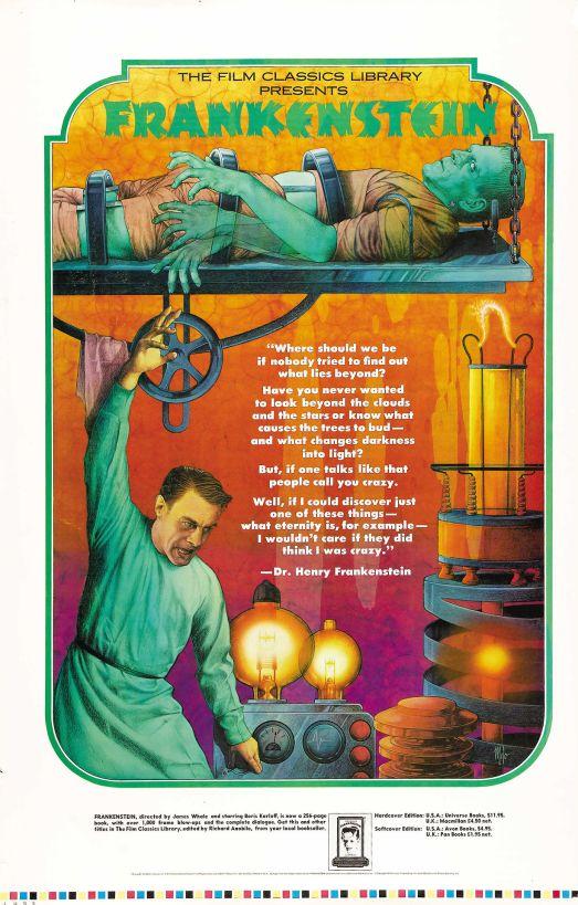 frankenstein film classics library book cover