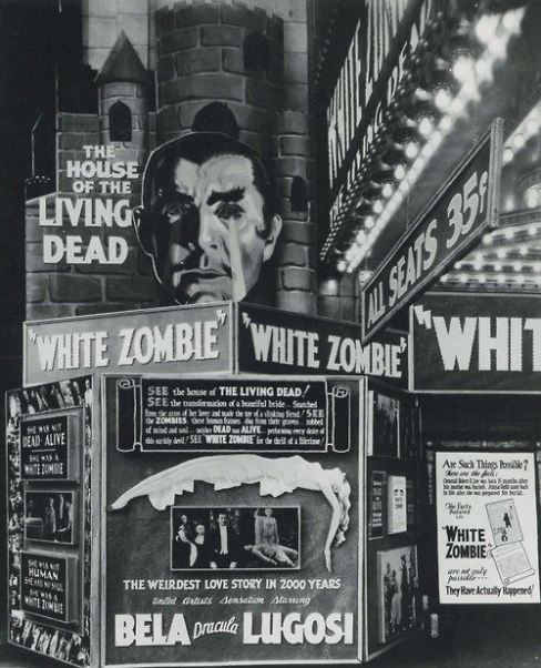 white zombie front of house