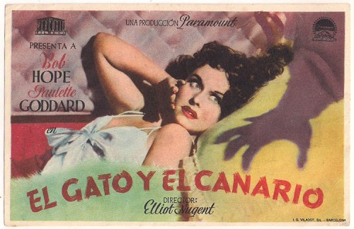 cat and the canary spanish poster