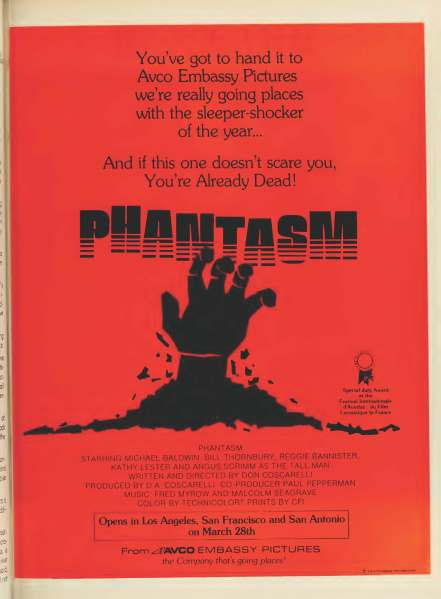 phantasm boxoffice ad