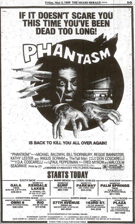 PHANTASM re May 2 1980
