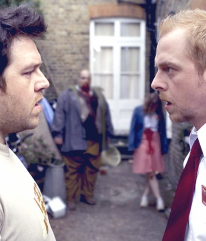 simon pegg shaun of the dead zombies back garden