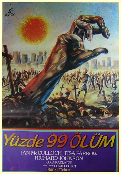 zombie flesh eaters zombie 2 fulci turkish poster