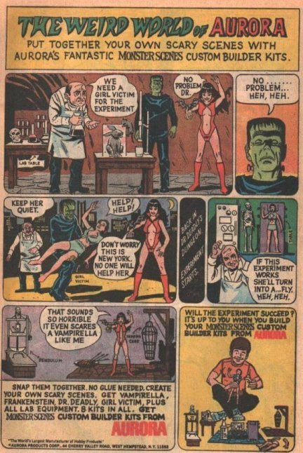 Aurora-comic-strip-Vampira-Frankenstein's-monster