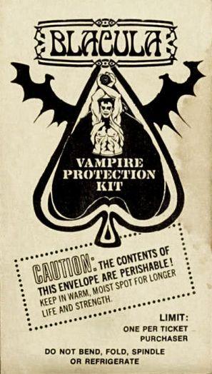 Blacula vampire protection kit