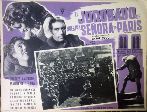 hunchback of notre dame mexican lobby card