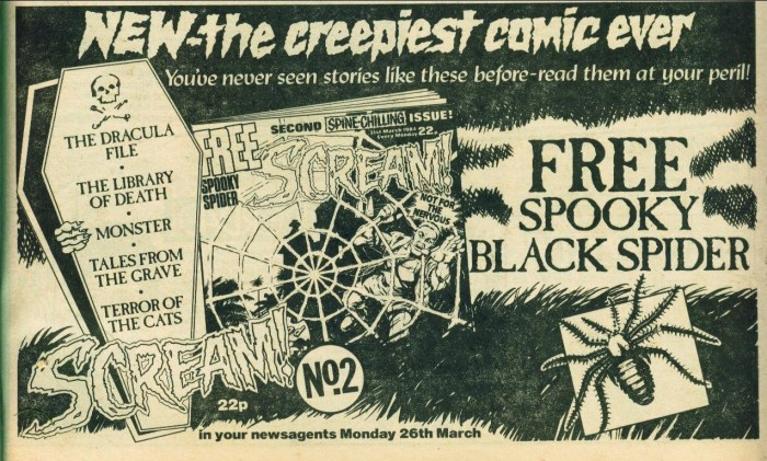 Scream Comic ad 5