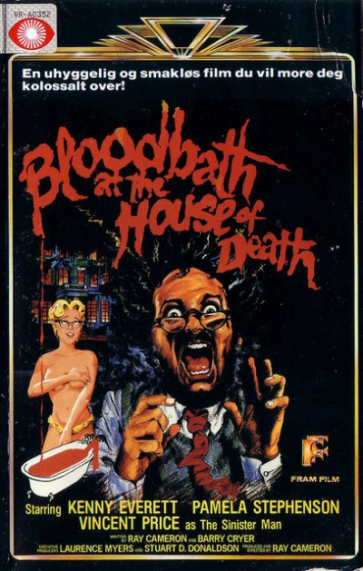 bloodbath at the house of death VHS cover