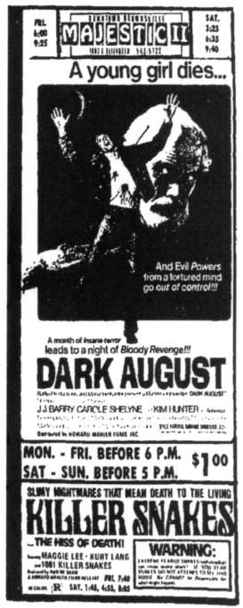 dark august + killer snakes