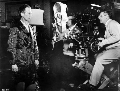 freddie francis directs peter cushing in The Skull 1965