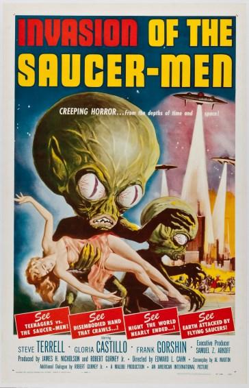 invasion of the saucer men creeping horror