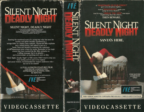 Silent night deadly night vhs