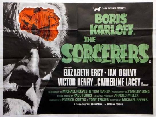 sorcerers british tigon poster boris karloff