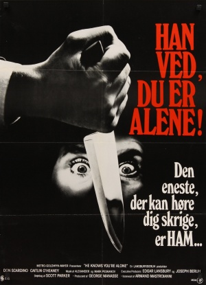 he knows you're alone danish poster