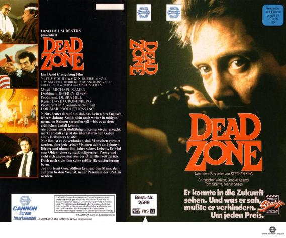 dead zone vhs