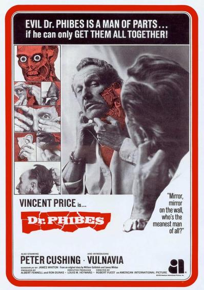 dr phibes trade ad with peter cushing