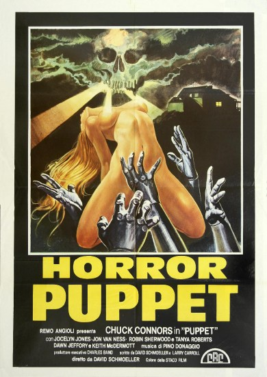 horror puppet tourist trap poster