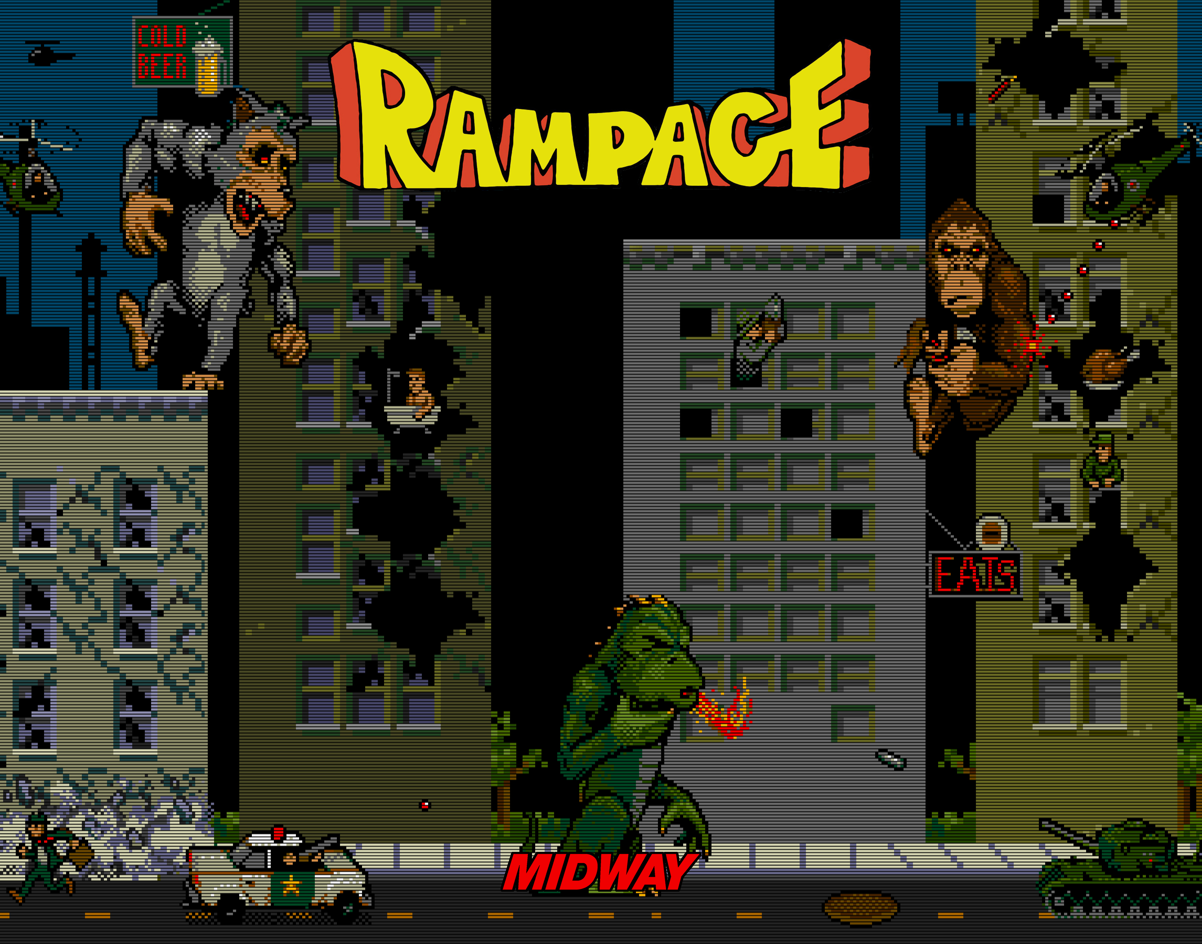 Rampage Video Game 1986 Movies And Mania