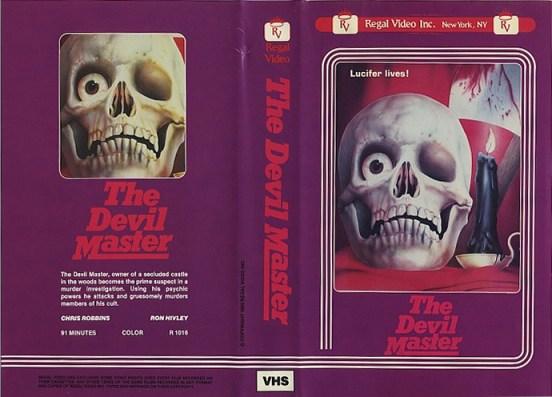 devil master vhs front & back