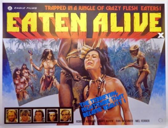 Eaten Alive 1980 Umberto Lenzi cannibal film British quad poster