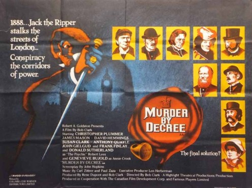 murder by decree jack the ripper british quad poster