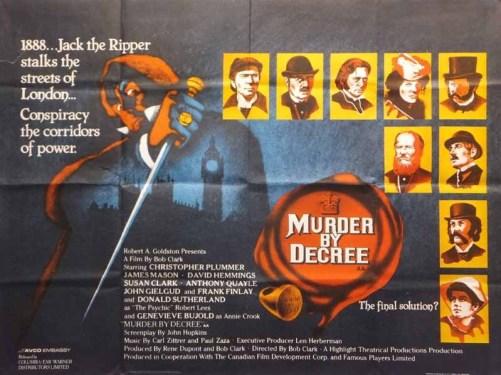 murder by decree jack the ripper british quad poster
