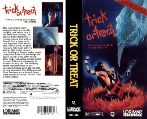 TRICK OR TREAT VHS
