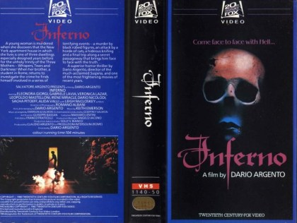 inferno 1980 british vhs front & back