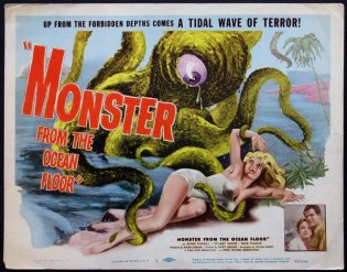 monster from the ocean floor 1954 roger corman poster