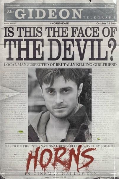 horns devil 2013 daniel radcliffe poster