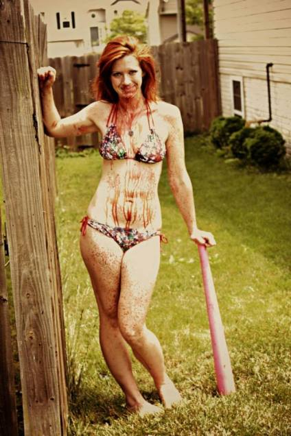 milfs vs. zombies blood bikini and baseball bat