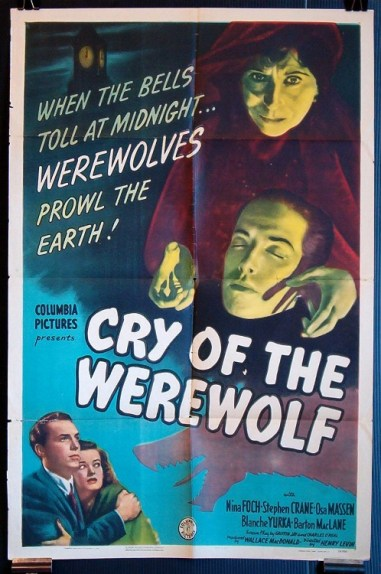 Cry of the Werewolf 1944 poster