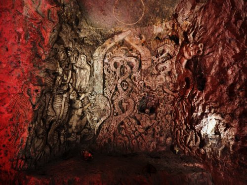 cave carving by Sandy Brown, 1995