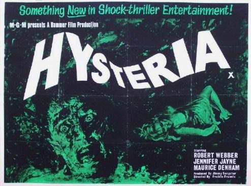 Hysteria British quad poster