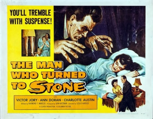 The Man Who Turned to Stone (Half Sheet) 1957