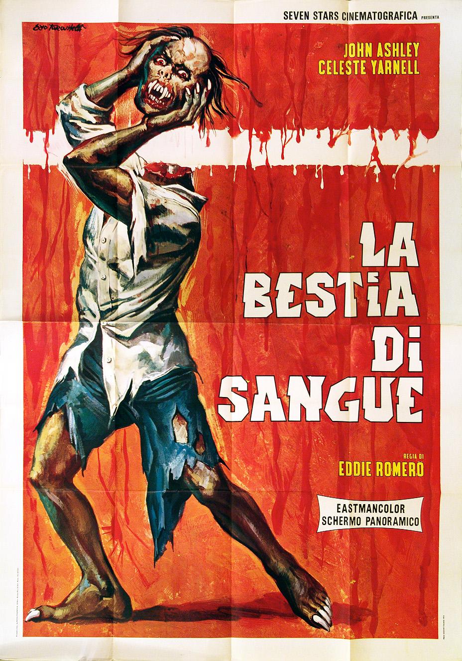 Beast of blood John Ashley Horror vintage movie poster print