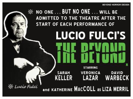 Rare The Beyond Lucio Fulci poster