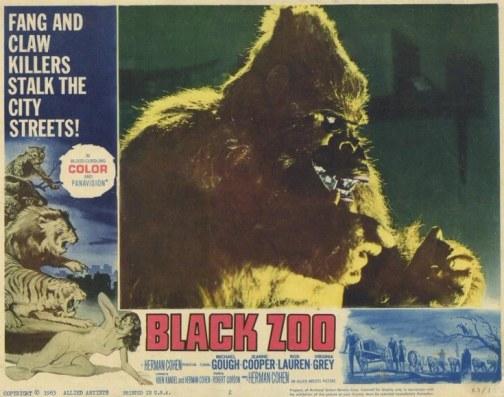 black zoo ape