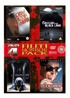 4-Film-Horror-Pack-DVD-Scream-Bloody-Murder-Ghoulies-IV-Teen-Vamp-Creature-from-Black-Lake