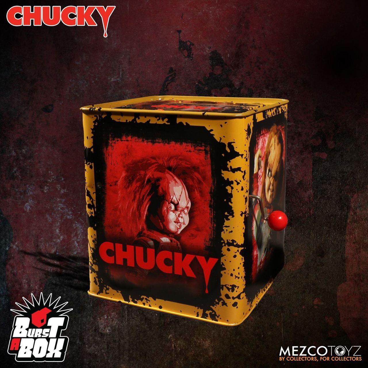 """Mezco Toyz 14/"""" Burst-A-Box Trick /'r Treat Sam Collectible In Stock"""